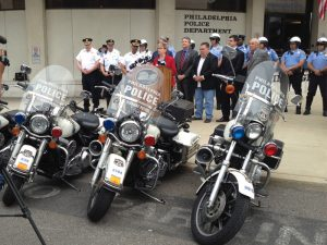 PPF Press Conference with Motorcycles in Foreground