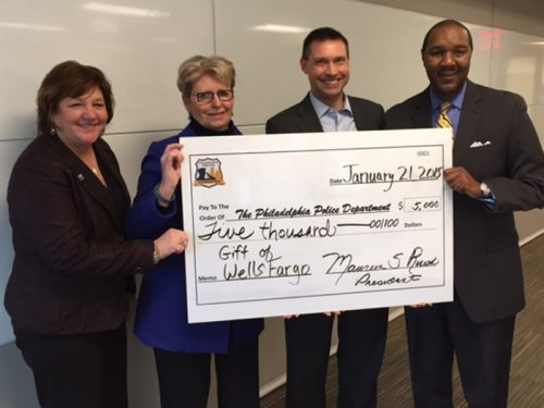 Board Members Janice Tangradi, Maureen Rush (President), Craig Kocak, and Darrel German (Wells Fargo).
