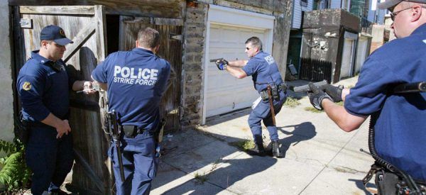 Police Conducting House Clearing
